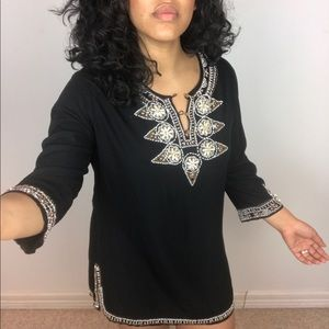 Black Beaded Tunic